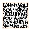 DENY Designs If You Love by Kal Bart Plaqueeski Framed Textual Art Plaque