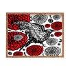 DENY Designs Julia Da Rocha Raven Rose Rectangle Tray