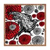DENY Designs Julia Da Rocha Raven Rose Square Tray
