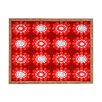 DENY Designs Julia Da Rocha Retro Red Flowers Rectangle Tray