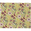 DENY Designs Pimlada Phuapradit Canary Floral Fleece Throw Blanket