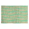 DENY Designs Jacqueline Maldonado Leaf Dot Stripe Mint Rug