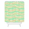 DENY Designs Jacqueline Maldonado Leaf Dot Stripe Mint Shower Curtain