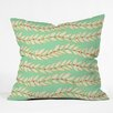 DENY Designs Jacqueline Maldonado Leaf Dot Stripe Mint Throw Pillow
