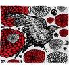 DENY Designs Julia Da Rocha Raven Rose Fleece Throw Blanket