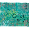 DENY Designs Kerrie Satava Summer Burst Fleece Throw Blanket