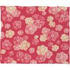 DENY Designs Lisa Argyropoulos Blossoms On Coral Fleece Throw Blanket