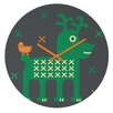 DENY Designs Gabriela Larios Reindeer and Birdy Wall Clock