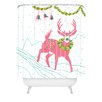 DENY Designs Betsy Olmsted Holiday Deer Woven Polyester Shower Curtain