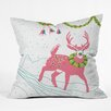 DENY Designs Betsy Olmsted Holiday Deer Throw Pillow