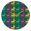 DENY Designs Gabriela Larios Reindeers Wall Clock