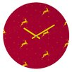 <strong>Jacqueline Maldonado Reindeer Stars Wall Clock</strong> by DENY Designs
