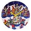 DENY Designs Renie Britenbucher Oh Christmas Tree Wall Clock