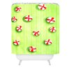 DENY Designs Rosie Brown Christmas Candy Woven Polyester Shower Curtain