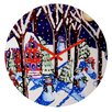 DENY Designs Renie Britenbucher Magic Snowmen Wall Clock