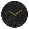 DENY Designs Zoe Wodarz Forest Neon Lights Wall Clock