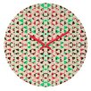 DENY Designs Caleb Troy Holiday Tone Shards Wall Clock