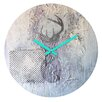 DENY Designs Kent Youngstrom Holiday Deer Wall Clock