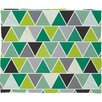 DENY Designs Heather Dutton Emerald Triangulum Plush Fleece Throw Blanket