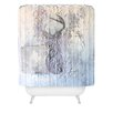 DENY Designs Kent Youngstrom Holiday Deer Woven Polyester Shower Curtain