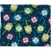 DENY Designs Loni Harris Dreidel Dreidel Plush Fleece Throw Blanket