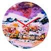 DENY Designs Ginette Fine Art Winter Star Wall Clock