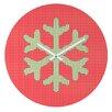 DENY Designs Ingrid Padilla Snowflake Wall Clock