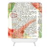 DENY Designs Susanne Kasielke Christmas Dictionary Art Woven Polyester Shower Curtain