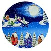 DENY Designs Renie Britenbucher Snowy Shoreline Wall Clock