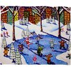 DENY Designs Renie Britenbucher Winter Fun In The City Plush Fleece Throw Blanket