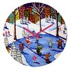 DENY Designs Renie Britenbucher Winter Fun In The City Wall Clock