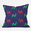 DENY Designs Zoe Wodarz Geo Pop Deer Blue Throw Pillow
