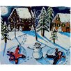 DENY Designs Renie Britenbucher Snow Angels Plush Fleece Throw Blanket