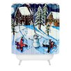 DENY Designs Renie Britenbucher Snow Angels Woven Polyester Shower Curtain