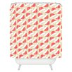 DENY Designs Allyson Johnson Santa Hats Woven Polyester Shower Curtain