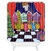 DENY Designs Renie Britenbucher Christmas Angel Woven Polyester Shower Curtain