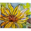 DENY Designs Ginette Fine Art Sunflower Ribbon Polyester Fleece Throw Blanket
