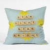 DENY Designs Happee Monkee Star Light Star Bright Throw Pillow