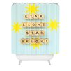 DENY Designs Happee Monkee Star Light Star Bright Woven Polyester Shower Curtain