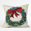 DENY Designs Madart Inc. Pine Wreath Throw Pillow