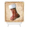 DENY Designs Madart Inc. Vintage Stocking Woven Polyester Shower Curtain