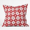 DENY Designs Social Proper Holiday Argyle Throw Pillow
