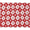 DENY Designs Social Proper Holiday Argyle Plush Fleece Throw Blanket