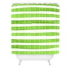 DENY Designs Social Proper Spruce Stripes Woven Polyester Shower Curtain