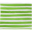 DENY Designs Social Proper Spruce Stripes Plush Fleece Throw Blanket