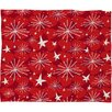 DENY Designs Julia Da Rocha Snow and Stars Plush Fleece Throw Blanket