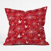 DENY Designs Julia Da Rocha Snow and Stars Throw Pillow
