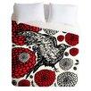 DENY Designs Julia Da Rocha Lightweight Raven Rose Duvet Cover
