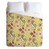 DENY Designs Pimlada Phuapradit Lightweight Canary Floral Duvet Cover