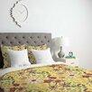 DENY Designs Pimlada Phuapradit Canary Floral Duvet Cover